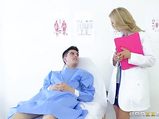 Adult doctor gets this young urchin to charge from her a charge out of prefer never before
